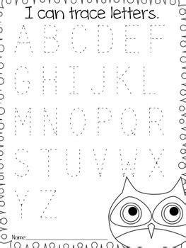 back to school assessments kindergarten owl themed letters and word work preschool