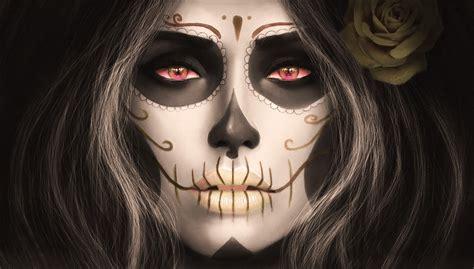 sugar skull wall magicnaanavi sugar skull santa muerte wallpaper no