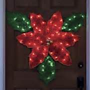 how to make a christmas yard poinsettia lighted seasonal outdoor decorations seventh avenue
