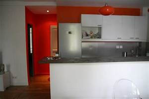 modele deco cuisine gris et rouge With deco cuisine rouge et gris