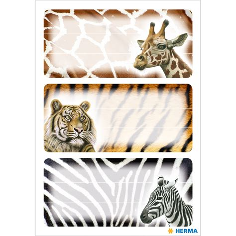 book labels  mm african animals  sheets