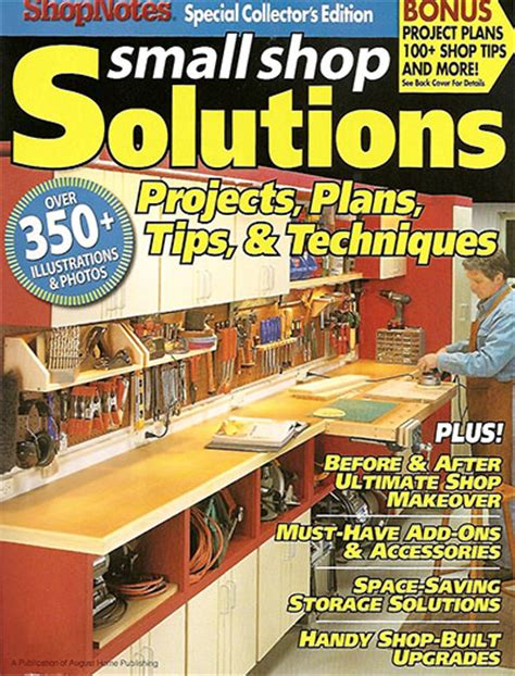 small shop solutions projects plans tips  techniques