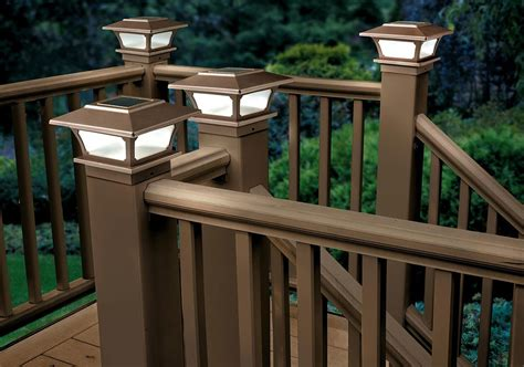 solar deck post lights solar outdoor lighting ideas improvements