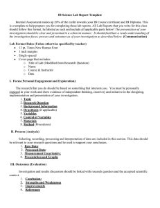 ib biology lab report template