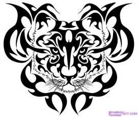 Tribal Tiger Head Tattoo