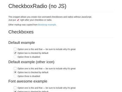 Bootstrap Checkbox Examples