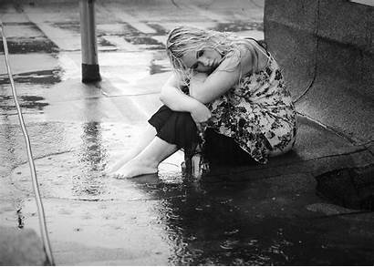Alone Rain Wallpapers Boy Sad Sitting Wallpaper202