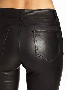 leather 5 pocket in black lyst