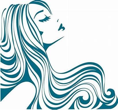 Hair Silhouette Salon Clipart Vector Stencil Illustration