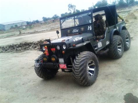 indian jeep modified a modified version of willys jeep now converted into a 6x6