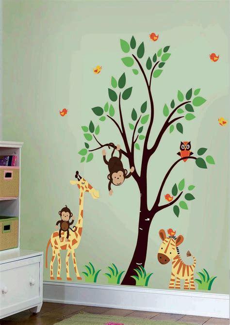 artistic vinyl blik mural wall sticker jungle family