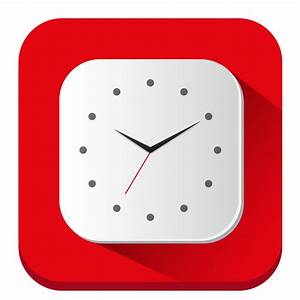 Clock Icon | Long Shadow iOS7 Iconset | PelFusion