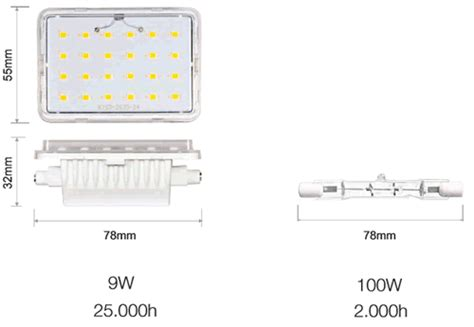 Ampoule R7s Lineal Led 78 Mm 9 Watts