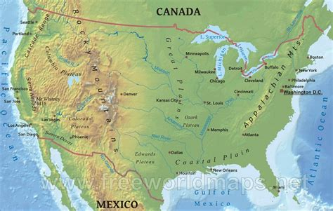 landforms of america mountain ranges of america us mountain ranges map united