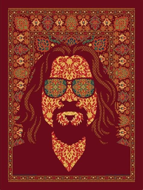 the big lebowski rug all the dude wanted was his rug back poster design