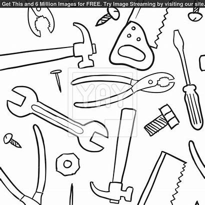 Tools Coloring Pages Doctor Vector Background Printable