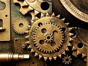Gears mechanical technics metal steel abstract abstraction ...