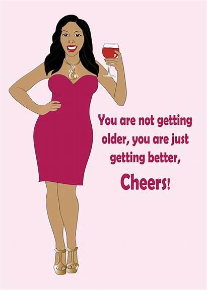 Birthday Woman Card Happy Greeting Cards