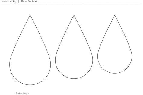 raindrop template printable   clip art