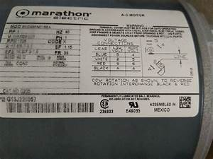 Marathon Motors 5kc49pn0155 Motor 12 Hp 1725 Rpm 115208