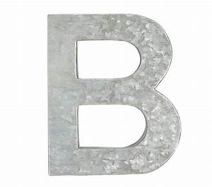 galvanized wall letters pottery barn kids With galvanized letter b