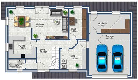 Einfamilienhaus Mit Integrierter Doppelgarage Grundriss by Grundriss Ohne Keller Mit Garage Wohn Design