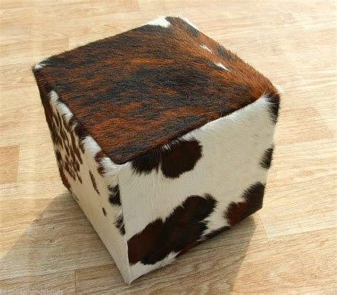 small ottomans and poufs cowhide kuhfell koeienhuid pouf ottoman footstool poef