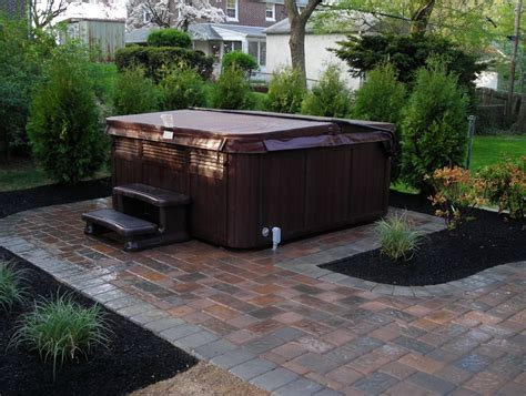 Patios With Tubs by Free Paver Patio Designs With Tub Don T Forget To
