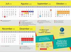 Kalender umn universitas multimedia nusantara