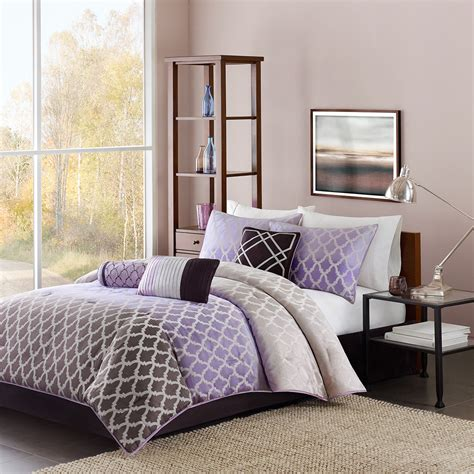 home design alternative comforter gray and purple bedding product choices homesfeed