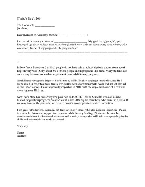 letter to senator template advocacy letter template