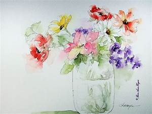 Simple Watercolor Flower Paintings | Watercolor Painting ...