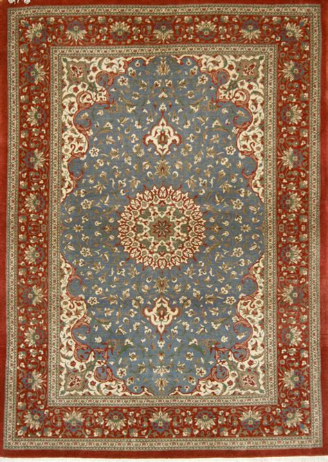 Rugs With by Small Knotted Isfahan Rug In Wool Cotton
