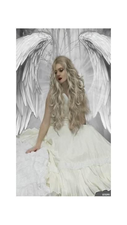 Angel Angels Animated Wake Wings Dark Heaven