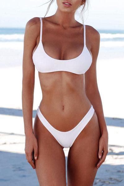 legs bikini sexy solid high leg bralette brazilian bikini swimsuit