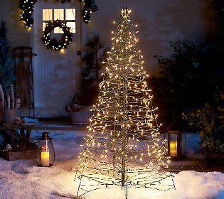 pre lit  fold flat outdoor christmas tree  lori