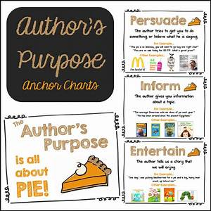 Author's Purpose Charts | Mrs. Gilchrist's Class