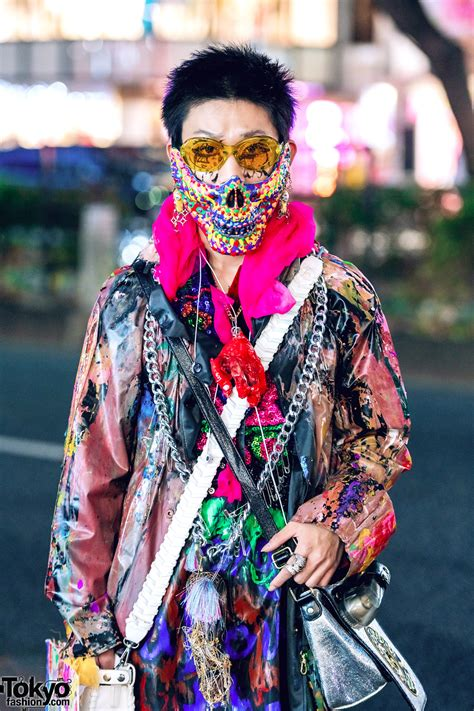 harajuku avant garde street style  handmade fashion prega garb dog harajuku colorful mask