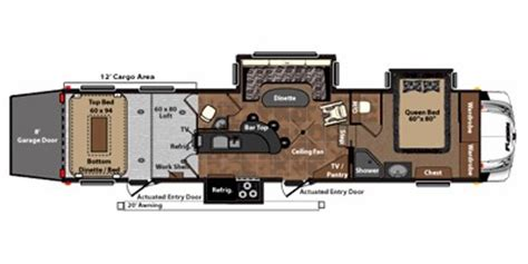 Fuzion 5th Wheel Hauler Floor Plans by 2011 Keystone Rv Fuzion Fifth Wheel Series M 405 Specs And