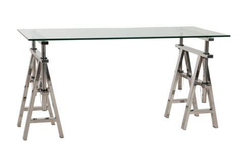 bureau design en verre bureau verre et acier pas cher
