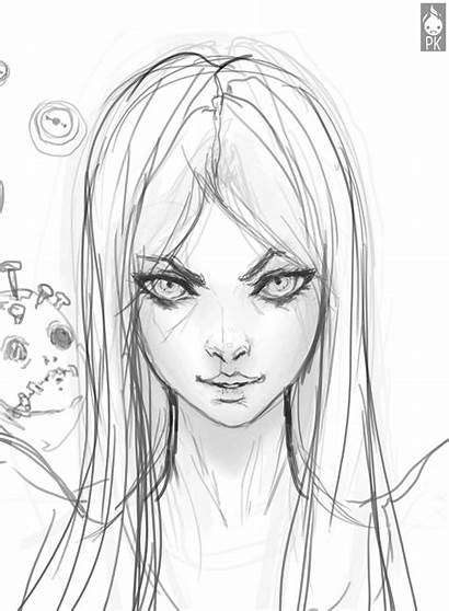 Drawing Reference Face Sketch Alice Deviantart Female