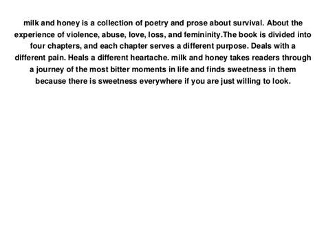 Read Milk And Honey Full E Book Free
