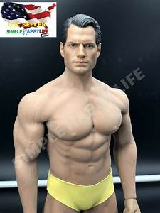 1  6 Henry Cavill Superman Head With Phicen Seamless Male Muscular Body M34 Usa
