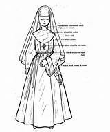 Nuns Monja Naming Disfraz Soeur Catholique Bonne Religieuse Nonne sketch template