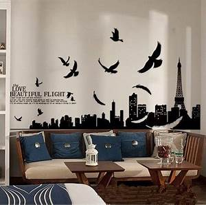 17 images about paris city wall decals stickers on With best brand of paint for kitchen cabinets with city skyline wall art