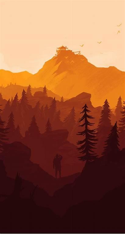 Iphone Firewatch Wallpapers Desktop Paisagem Poster Paisagens