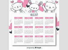 Calendario 2019 Descargar Vectores gratis