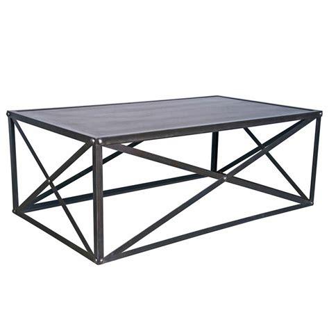 industrial metal coffee table crispin industrial style metal stone coffee table kathy