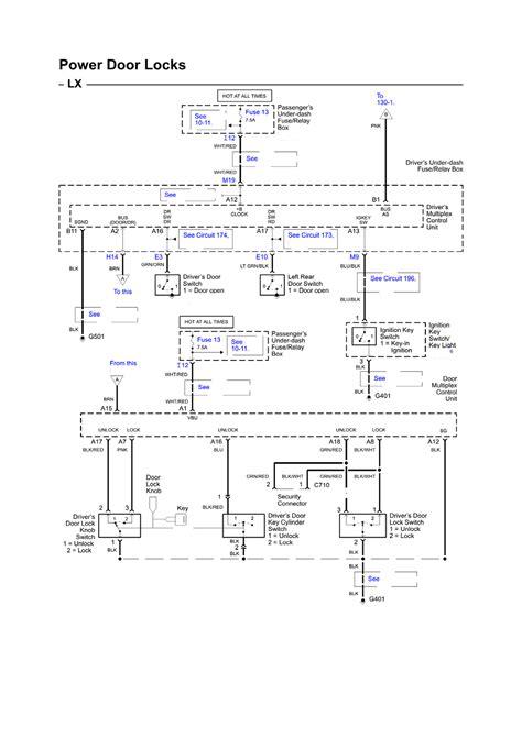 Honda Accord Door Lock Wiring Diagram by I Drive Honda Pilot 2003 And My Automatic Door Lock Doesn