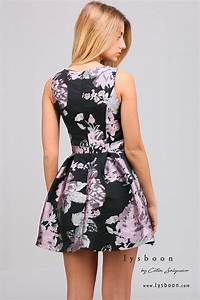robe molly patineuse a fleurs noire With robe coupe patineuse